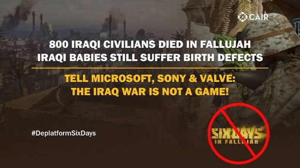 Six Days in Fallujah comunicado CAIR