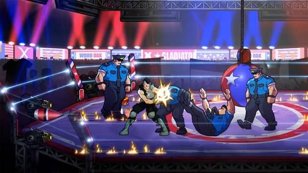 Captura del DLC Mr. X Nightmare de Streets of Rage 4.