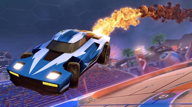 Captura de Rocket League, disponible gratis en todas las plataformas.