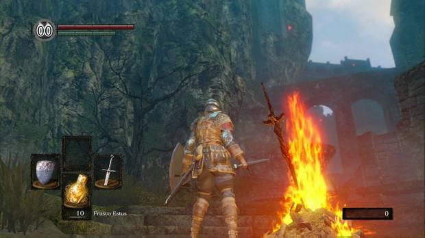 Dark Souls Remastered, Santuario de Enlace del Fuego, Camino al Burgo de los no muertos