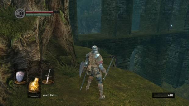 Dark Souls Remastered, Santuario de Enlace del fuego, Anillo de sacrificio raro, acueducto