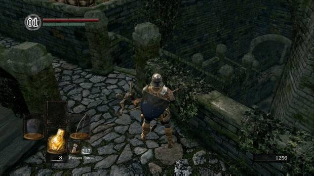 Dark Souls Remastered, Burgo de los no muertos, Escaleras, Caballero Negro