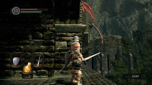 Dark Souls Remastered, Burgo de los no muertos, Dragón, Puente, Cola, Espada recta dragón