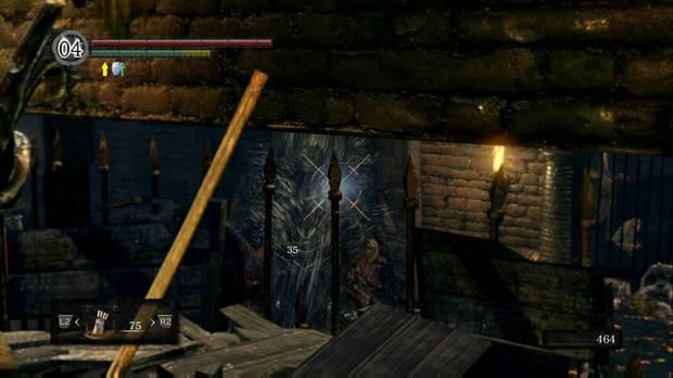 Dark Souls Remastered, Profundidades, Rata gigante, Matar a distancia, Rejas cerca de la hoguera