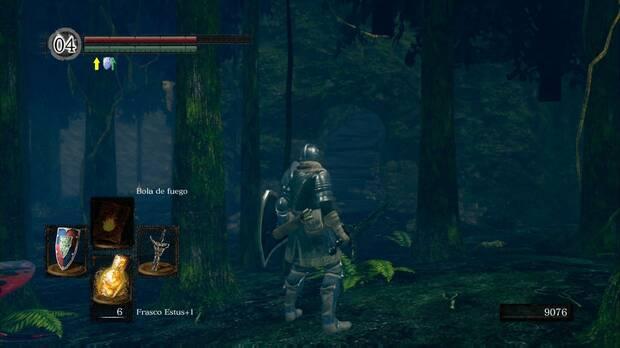 Dark Souls Remastered, Jardín Tenebroso, Sube por la cueva, Anillo del lobo