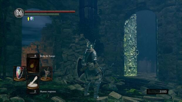 Dark Souls Remastered, Jardín Tenebroso, Cruza la puerta