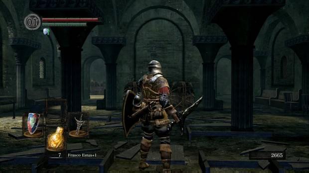 Dark Souls Remastered, Parroquia de los no muertos, Gran salón, Camino al jefe