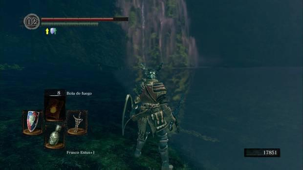 Dark Souls Remastered, Cuenca Tenebrosa, Avanza pegado a la pared
