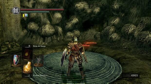 Dark Souls Remastered, Dominios de Quelaag, Muro ilusorio, Eingyi, Quelaan, Pacto, Siervo del caos, Piromancias