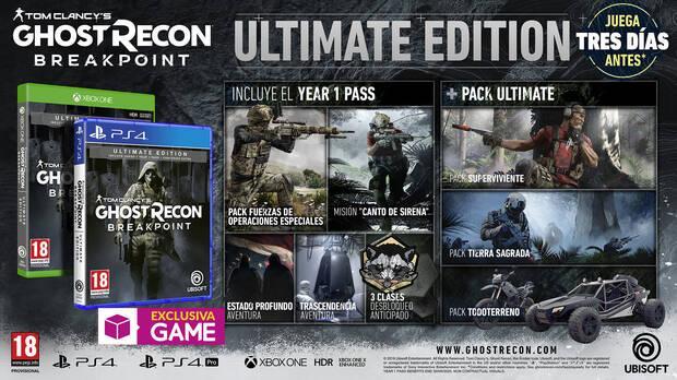GAME detalla sus ediciones exclusivas de Ghost Recon Breakpoint Imagen 3