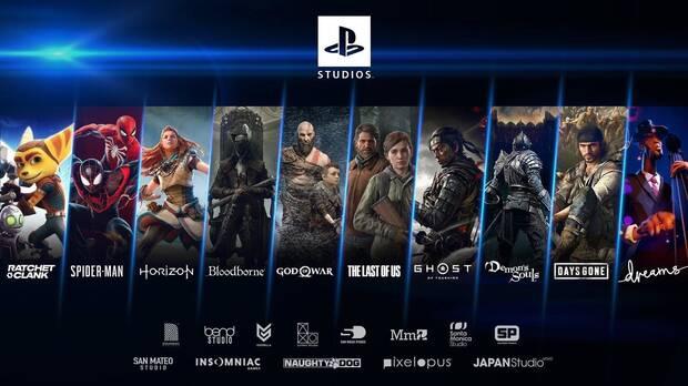 Catálogo de juegos de PlayStation Studios para PS5.