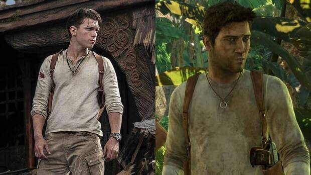 Tom Holland as Nathan Drake in the movie