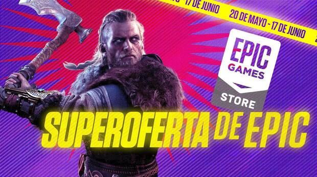 Descuentos y rebajas en juegos de PC en la Superoferta de Epic Games Store.