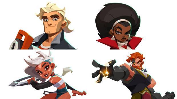 Protagonistas de Blast Brigade