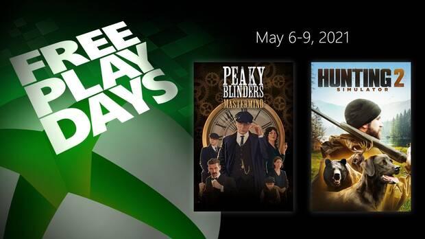 Free Play Days del 6 al 9 de mayo en Xbox Live Gold.