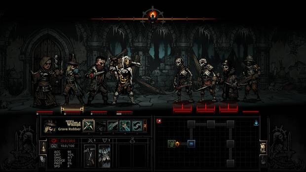 Captura de Darkest Dungeon.
