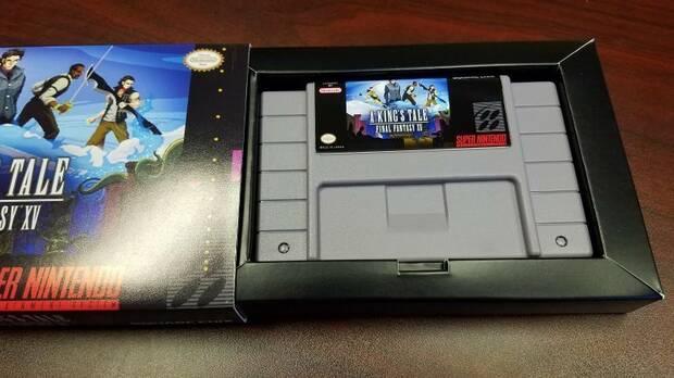 El equipo de A King's Tale: FFXV recibió una réplica de cartucho de SNES Imagen 2