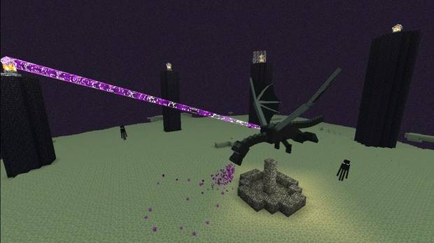 Minecraft, End, Ender, The Ender, Dragon, End Dragon, Final, Jefe