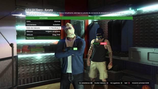 Dinero con los golpes de GTA online