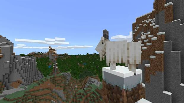Minecraft Caves & Cliffs cabras