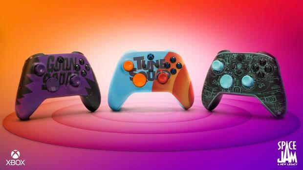 Tres nuevos mandos de Xbox inspirados en Space Jam: A New Legacy - The Game.