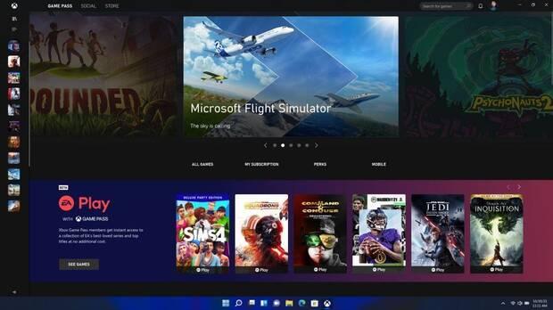 Xbox Game Pass en Windows 11.