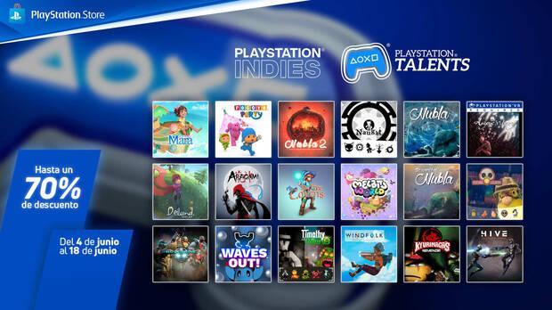 Ofertas en juegos de PS Talents para PS4 y PS5.