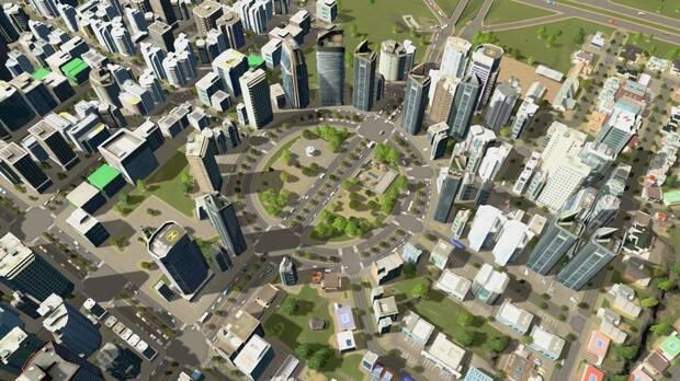 Imagen de una ciudad de Cities: Skyline.