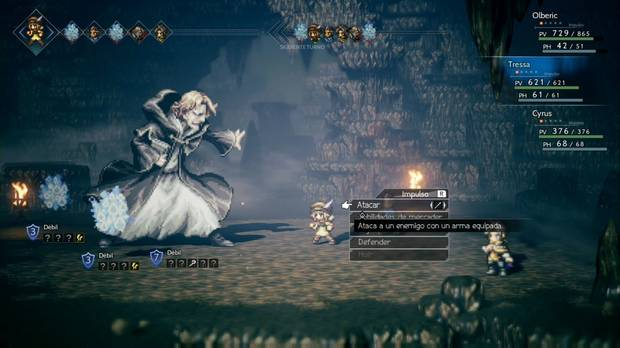 Octopath Traveler, Cyrus, Capítulo 1, Jefes, Rusesll