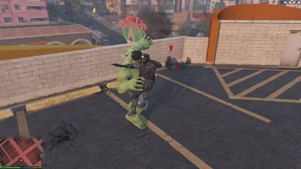 Este mod de Hulk para GTA V permite desatar el caos y 'aplastar' Los Santos Imagen 2
