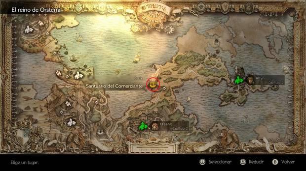 Octopath Traveler, Mapamundi, Trabajos, Trabajos secundarios, Santuario del Comerciante, Mercader