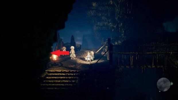 Octopath Traveler, Alfyn, Capítulo 1, Cueva de Rhiyo