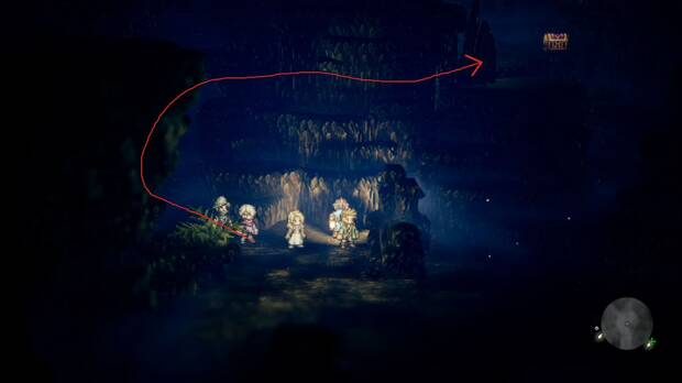 Octopath Traveler, Capítulo 2, Aflyn, Cuevas Cerúleas