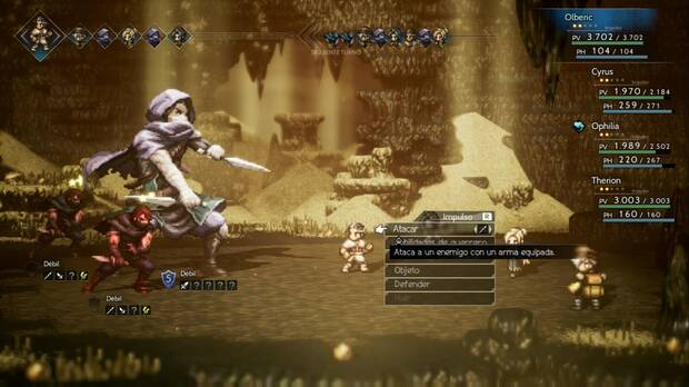 Octopath Traveler, Capítulo 3, Therion, Jefes, Gareth
