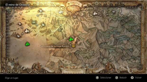 Octopath Traveler, Trabajos, Trabajos secretos, Señor de las Runas, Santuario de la Hoja Rúnica