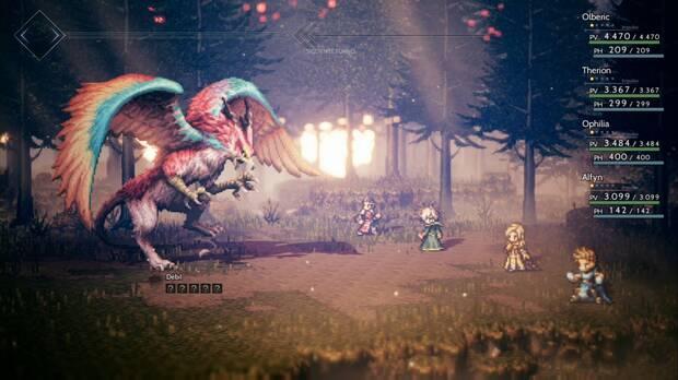 Octopath Traveler, Capítulo 4, Alfyn, Jefes, Águila ogro