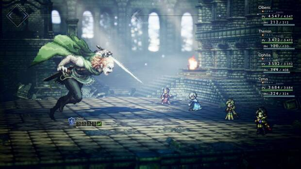 Octopath Traveler, Capítulo 4, Therion, Jefes, Darius