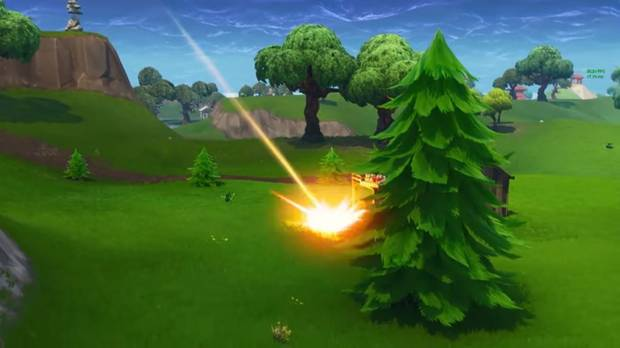 Fortnite Battle Royale - Meteorito impactando contra el suelo