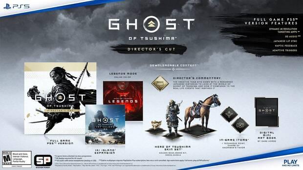 Reserva de Ghost of Tsushima Director's Cut en PS5.