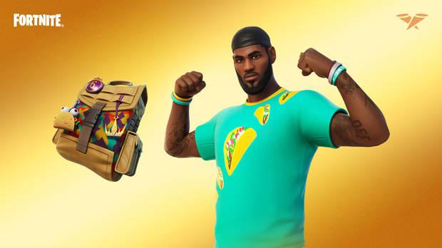 LeBron James skin from Fortnite taco Tuesday variant