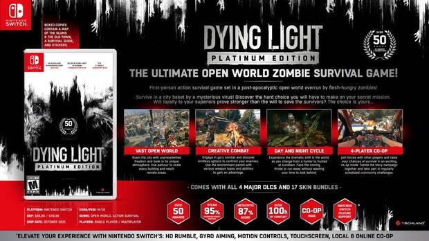 Contenido de la Dying Light: Platinum Edition en Switch