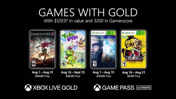 Xbox Live Gold Agosto 2021