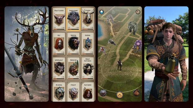 Capturas de The Witcher: Monster Slayer en iOS y Android.