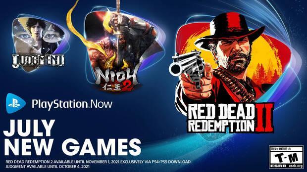 Juegos de julio en PS Now.