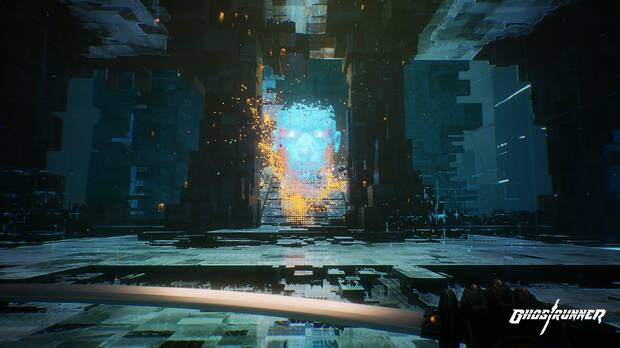Captura de Ghostrunner.