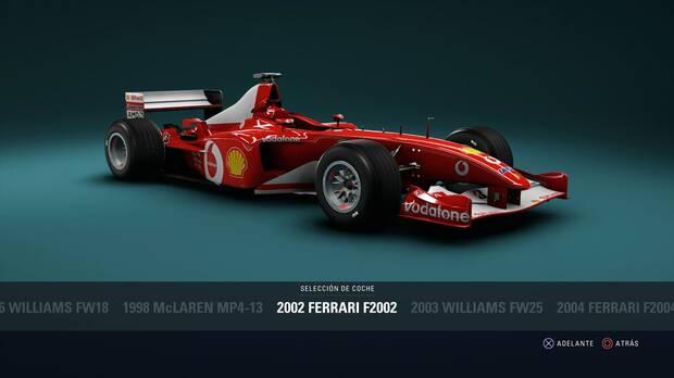 F1 2018 - Coches clásicos - Ferrari F2002 de 2002