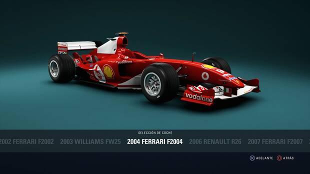 F1 2018 - Coches clásicos - Ferrari Ferrari F2004 de 2004