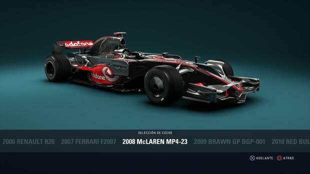 F1 2018 - Coches clásicos - McLaren MP4-23 de 2008