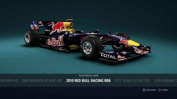 F1 2018 - Coches clásicos - Red Bull Racing RB6 de 2010