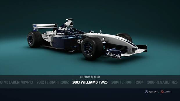 F1 2018 - Coches clásicos - Williams FW25 de 2003